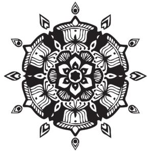 Floral Mandala Coloring Page