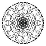 Eagle Mandala Coloring Page