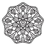 Geometric Mandala Coloring Page