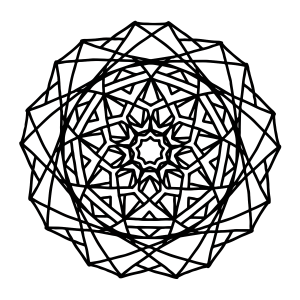 Coloring pages for Geometric mandala coloring pages