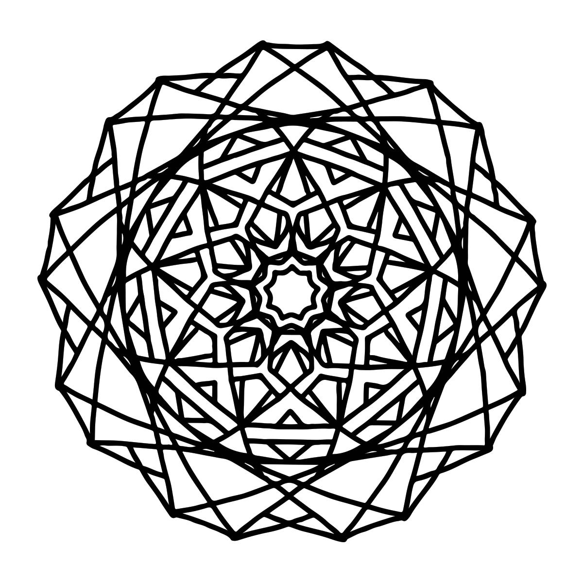 Geometric Mandala Coloring