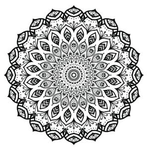 Modern Mandala Coloring Page
