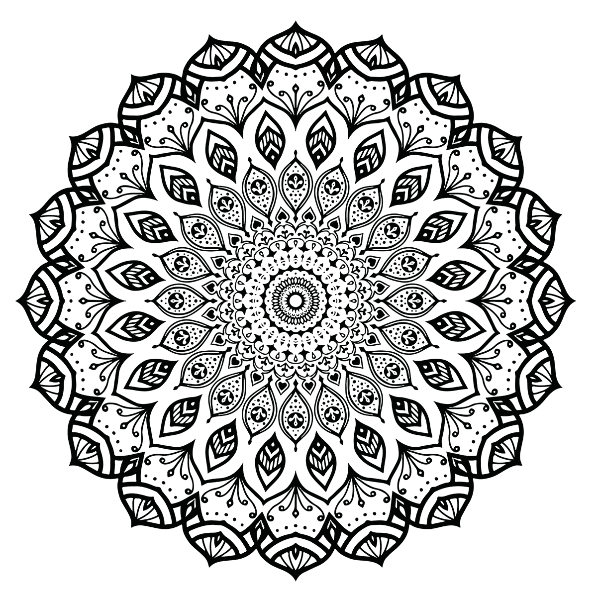 modern mandala coloring page - Intricate Mandalas Coloring Pages