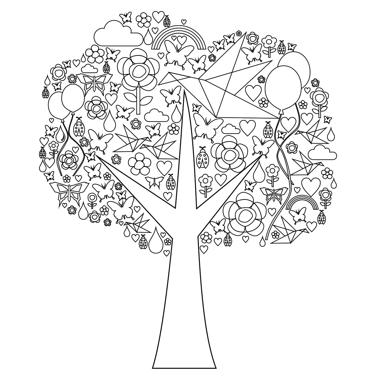 Page: Tree Of Life Coloring Page