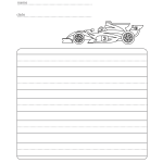 Race car themed writing practice sheets
