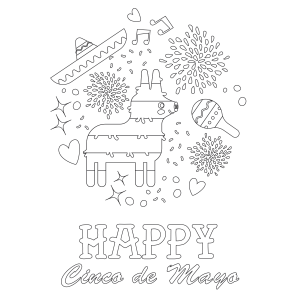 Get This Free Printable Cinco de Mayo Coloring Pages for Kids 11985 ! | 300x300